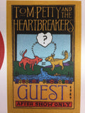 Tom Petty and Hearbreakers - Uncut Otto Sample Sheet of Cloth Backstage Passes