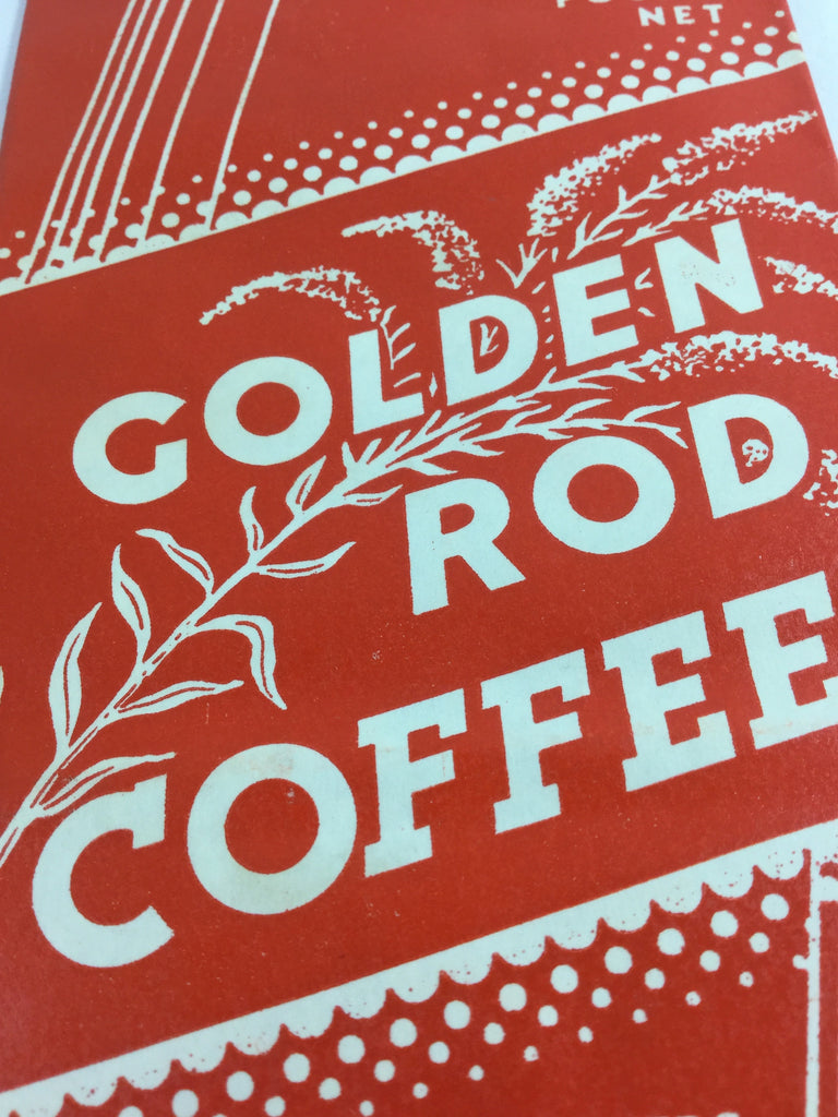 Vintage Golden Rod Coffee Bag - Unused
