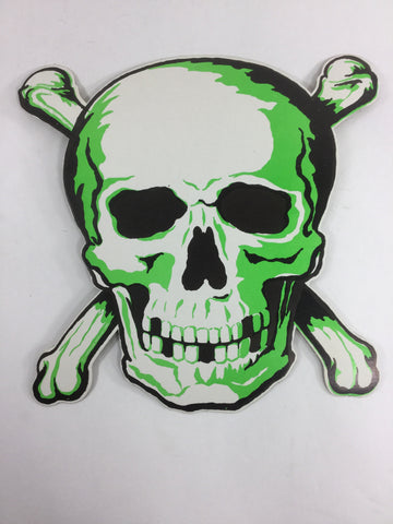 1960's Die Cut Glow In The Dark Human Skull Cardboard Sign - Odd MoFo