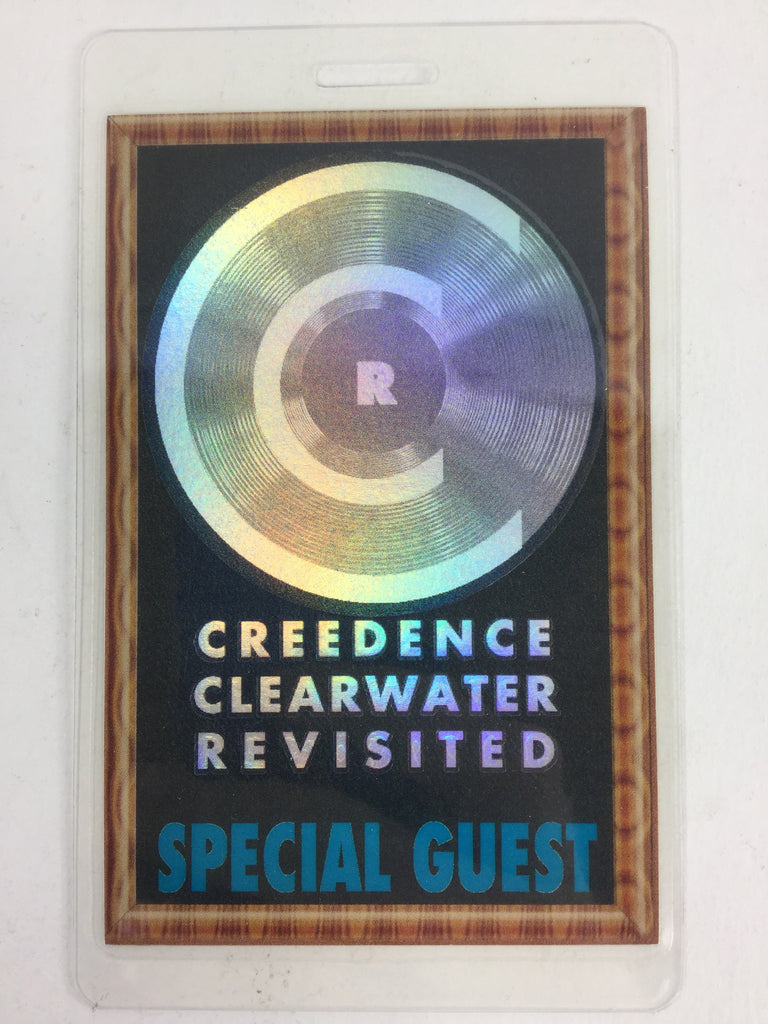 Retro Creedence Clearwater Revisited Laminated Special Guest Pass