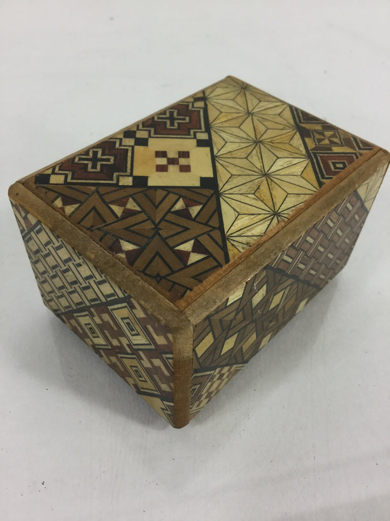 Cute Wood Charm Box w/ Secret Opening and Geometric Design - Odd MoFo