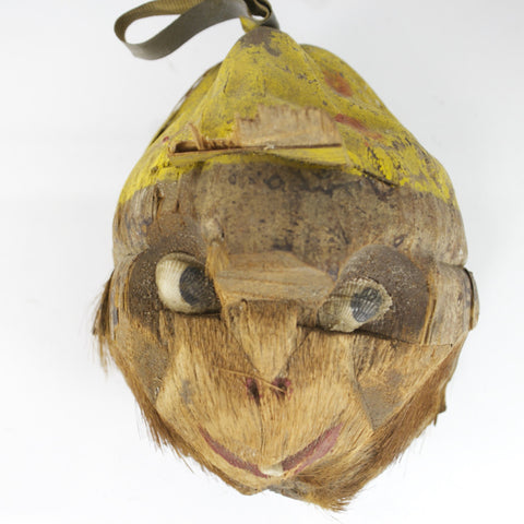 Cute Hand Carved Coconut Monkey Wearing Baseball Cap - Odd MoFo
