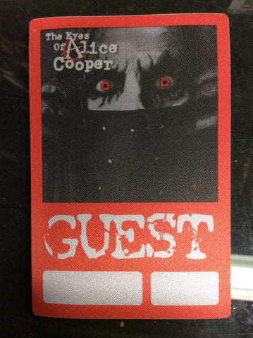 Alice Cooper 2003 Eyes of Alice Cooper cloth backstage pass - GUEST - Odd MoFo