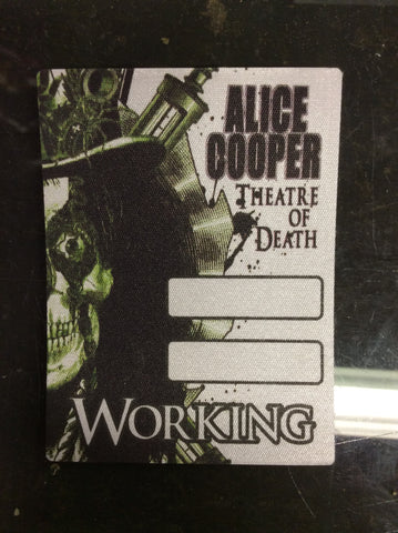 Alice Cooper 2009 Theatre of Death backstage pass - WORKING - Odd MoFo