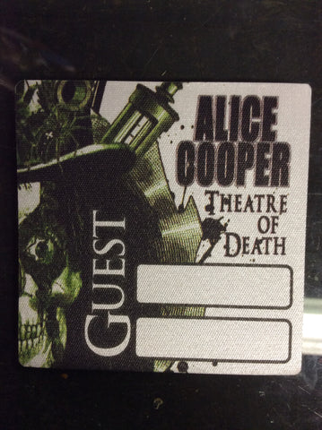 Alice Cooper 2009 Theatre of Death Backstage pass - Guest - Odd MoFo