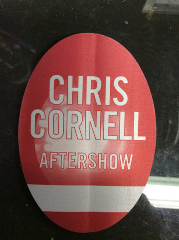 Chris Cornell cloth AFTERSHOW backstage pass from 2000 solo tour - Odd MoFo
