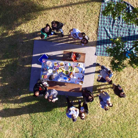 Drone Top Down at BBQ