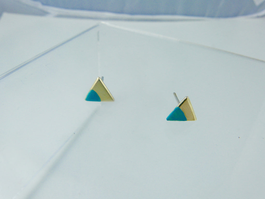 Pinch of Color Triangle Earrings