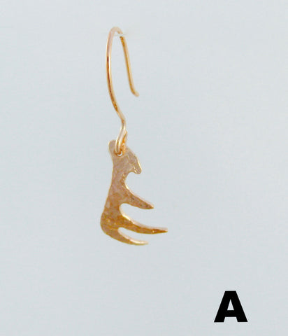 Textured Antler Earrings