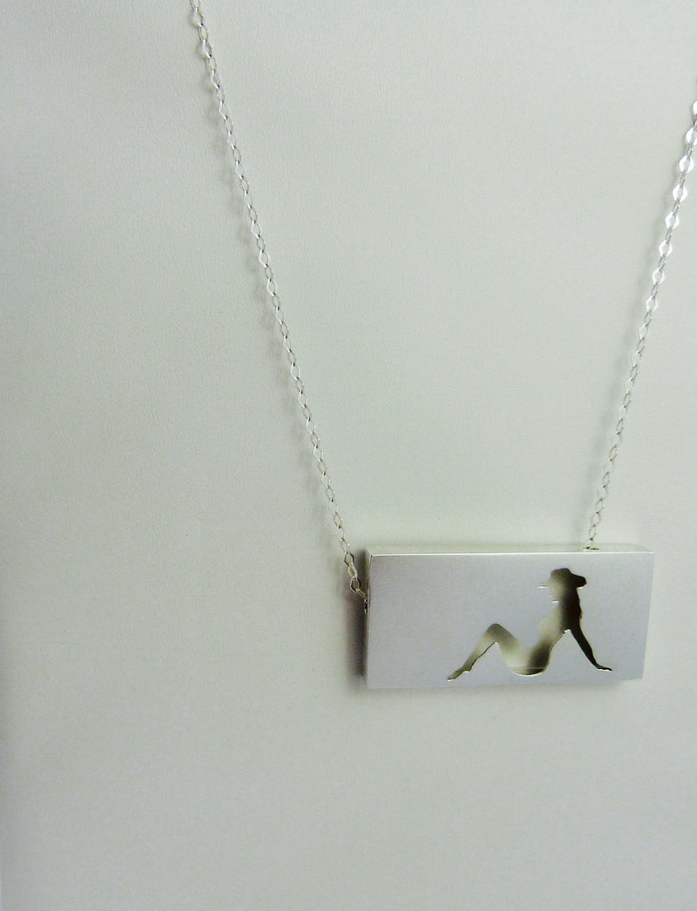Cowgirl Frame Pendant
