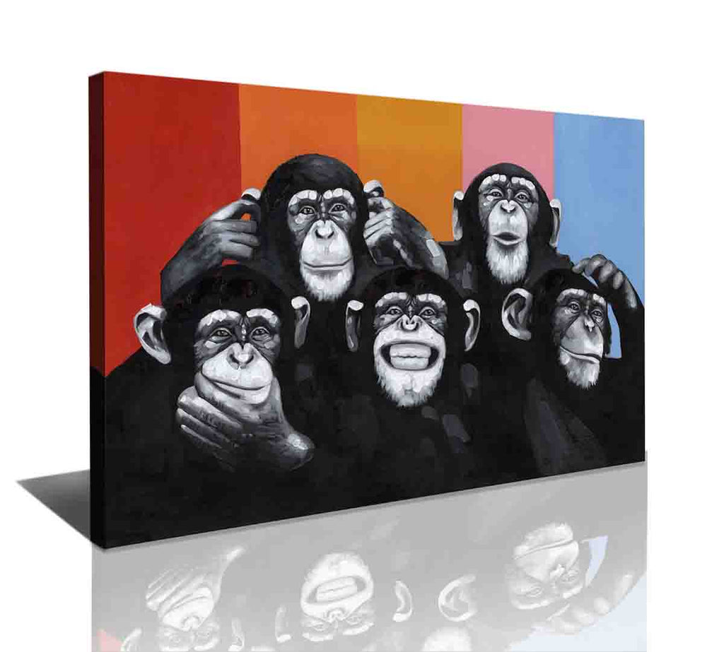 Wall Canvas - Monkey Way