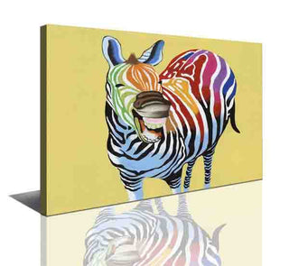 Wall Canvas - Funky Zebra