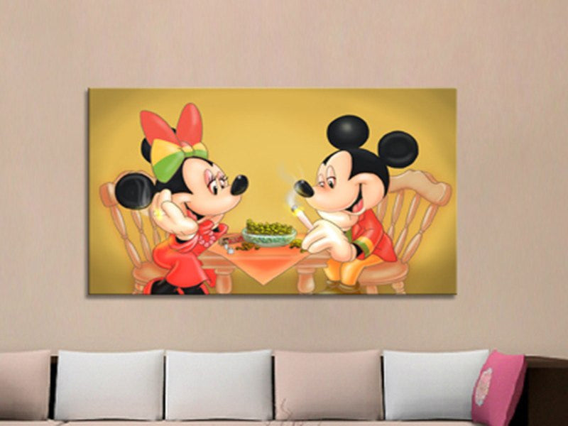 Wall Canvas - Mickey&Minnie – Spiritual Life Style