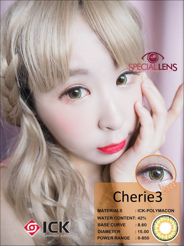 ICK Cherie3 Brown Contact Lenses