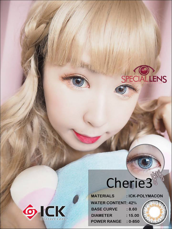 ICK Cherie3 Grey Contact Lenses