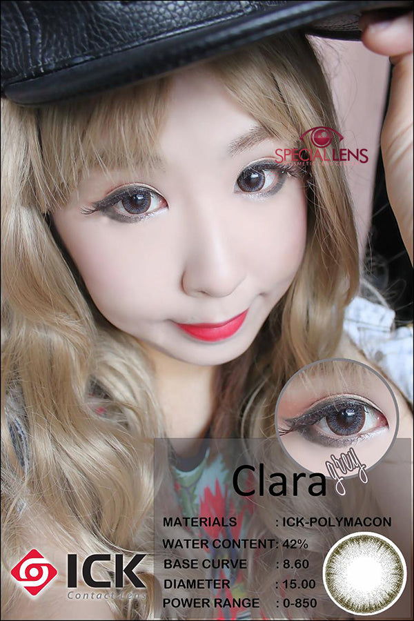 ICK Clara Grey Contact Lenses