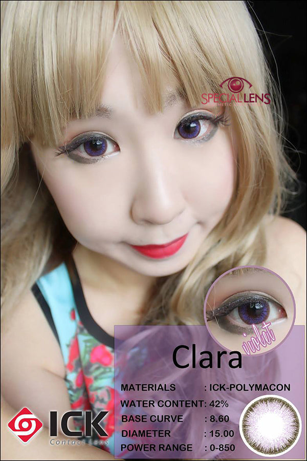 ICK Clara Violet Contact Lenses Write a review