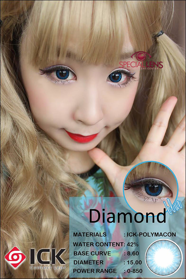 ICK Diamond Blue Contact Lenses