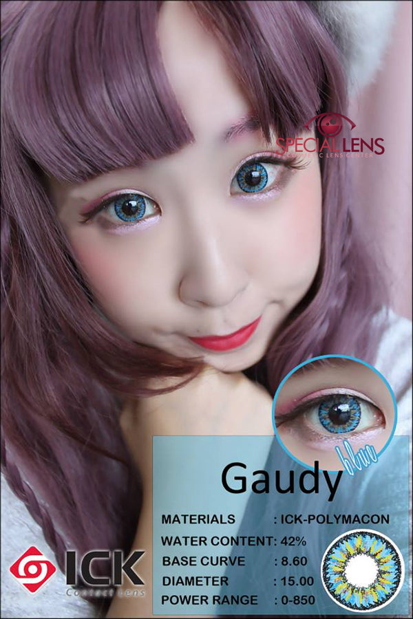 ICK Gaudy Blue Contact Lenses
