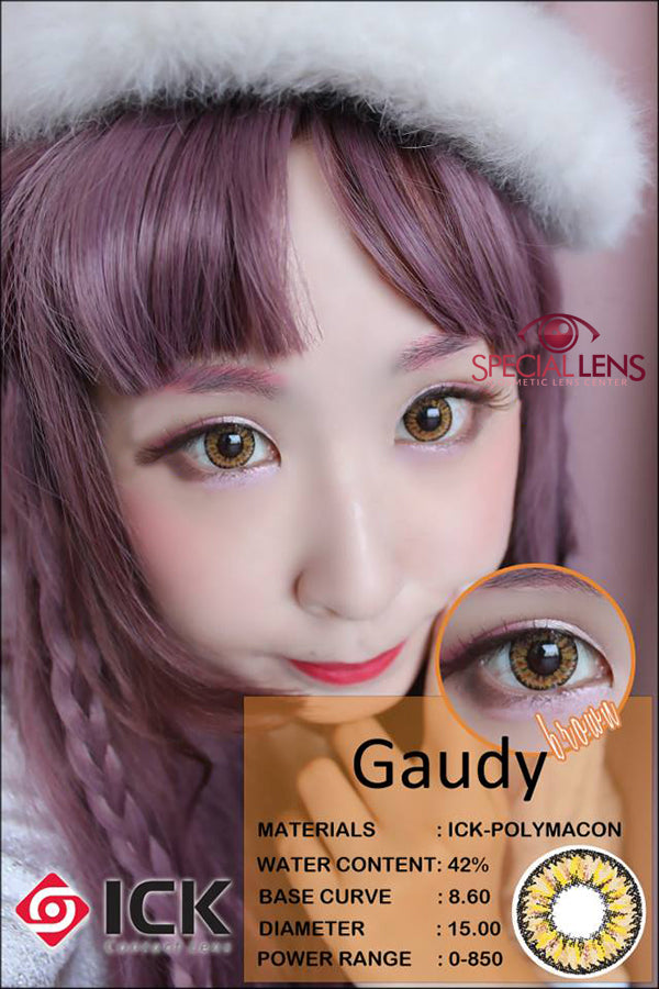 ICK Gaudy Brown Contact Lenses