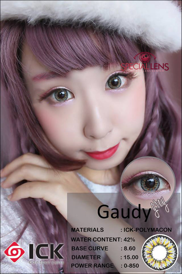 ICK Gaudy Grey Contact Lenses