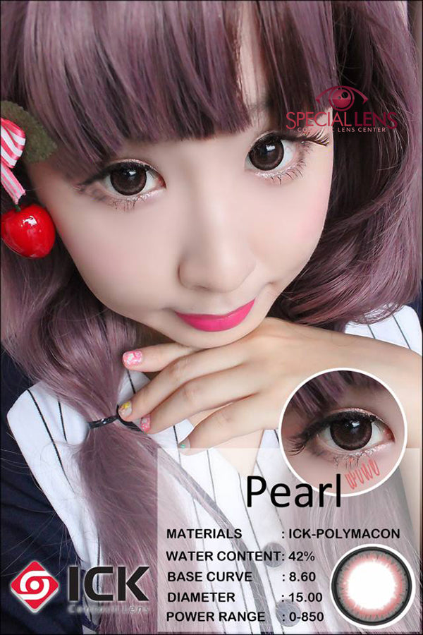 ICK Pearl Wine Contact Lenses