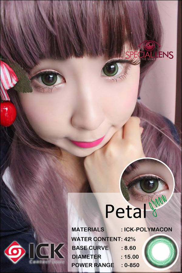ICK Petal Green Contact Lenses Write a review