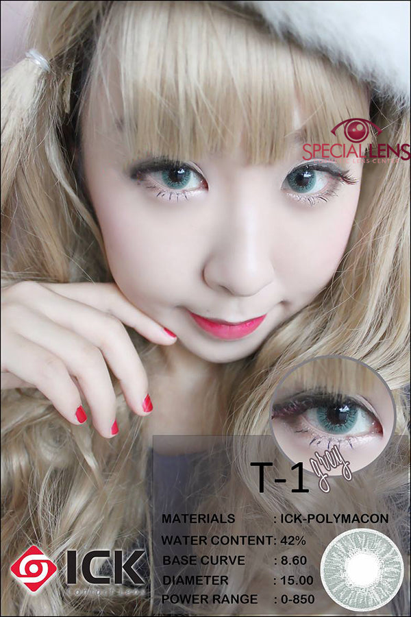 ICK T1 Grey Contact Lenses