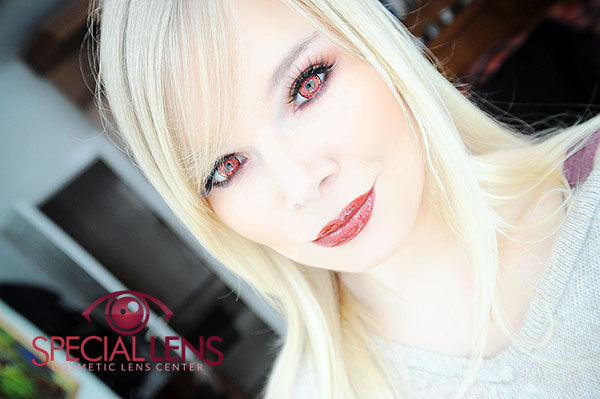 iFairy Cara Red Contact Lenses