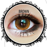 Classic Glamourous Brown Contact Lenses