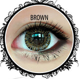 Classic Glamourous 4T Brown Contact Lenses