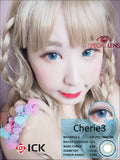 ICK Cherie3 Blue Contact Lenses