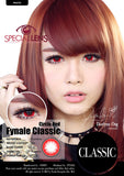 Classic Circle Red Contact Lenses