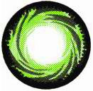 Twist Tornado Green Contact Lenses