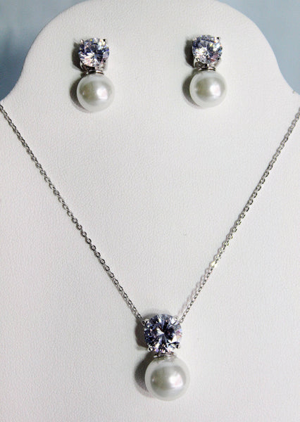 Savita Necklace and Earring Set - Adorno Bridal Accessories