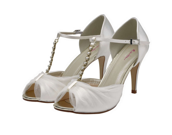 Adrianna-Tulle and Satin Sandals - Adorno Bridal Accessories
