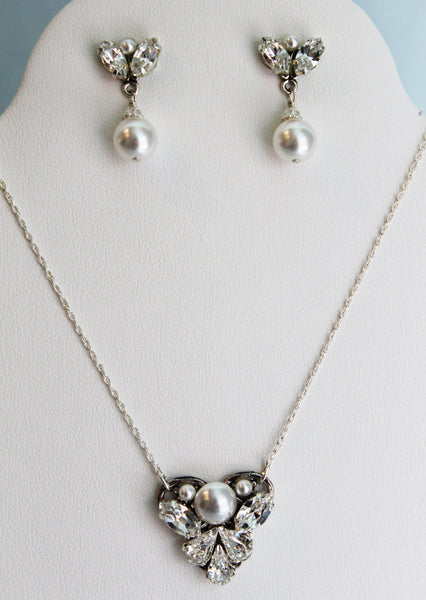 Auriga Necklace and Earring Set - Adorno Bridal Accessories