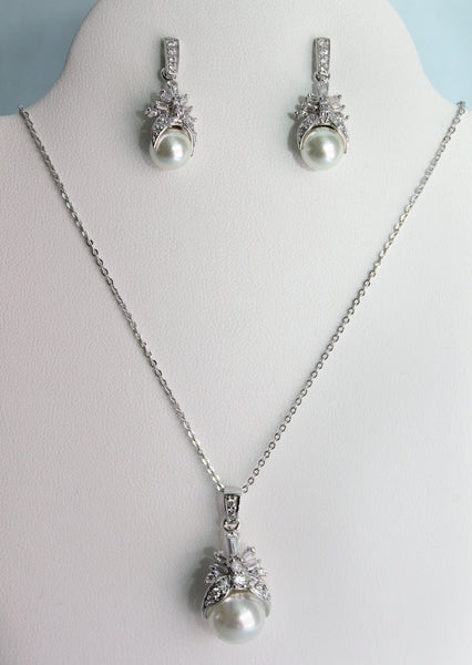 Merida Necklace and Earring Set - Adorno Bridal Accessories