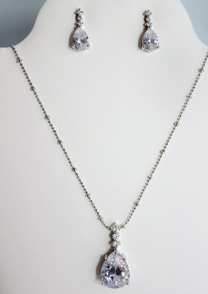 Cybele Necklace and Earring Set - Adorno Bridal Accessories