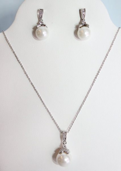 Patina Necklace and Earring Set - Adorno Bridal Accessories
