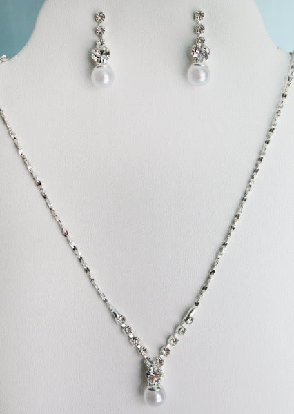 Rhea Necklace and Earring Set - Adorno Bridal Accessories