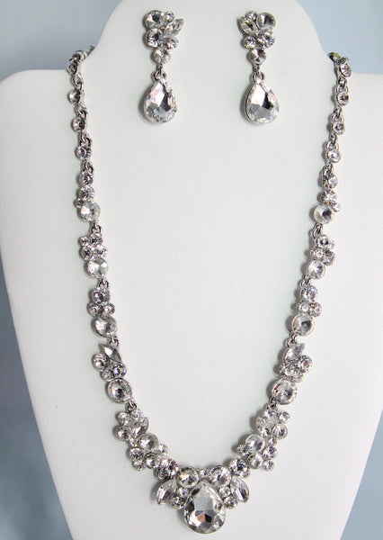 Apphia Necklace and Earring Set - Adorno Bridal Accessories