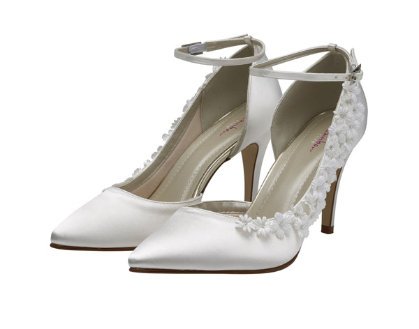 Fern- Ivory Blossom Court Shoes - Adorno Bridal Accessories