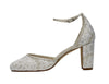 Lavina- Block Heel Shimmer Shoes - Adorno Bridal Accessories