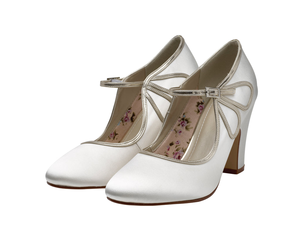 Marcia- Mary-Jane Block Heels - Adorno Bridal Accessories