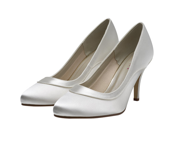 Nicole- Satin Elegant Court Shoes- Extra Wide Fitting - Adorno Bridal Accessories