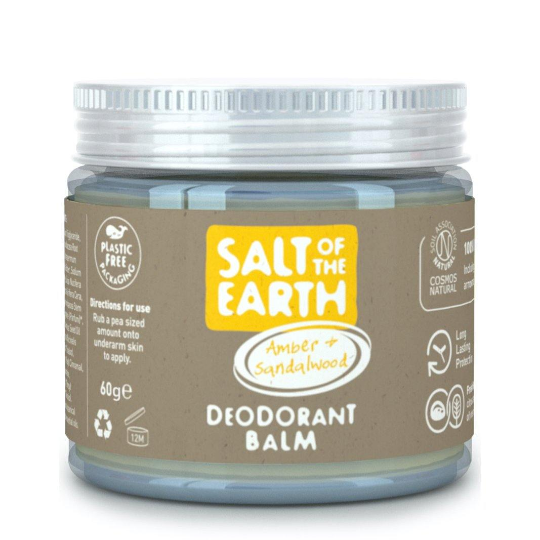Salt of the Earth Natural Deodorant Balm - Amber & Sandalwood