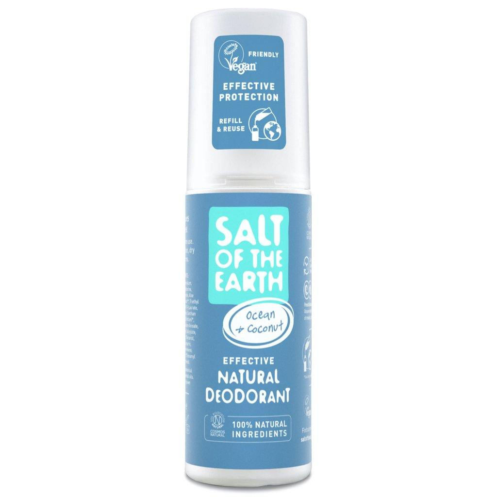 Salt of the Earth Ocean & Coconut natural deodorant spray front of bottle