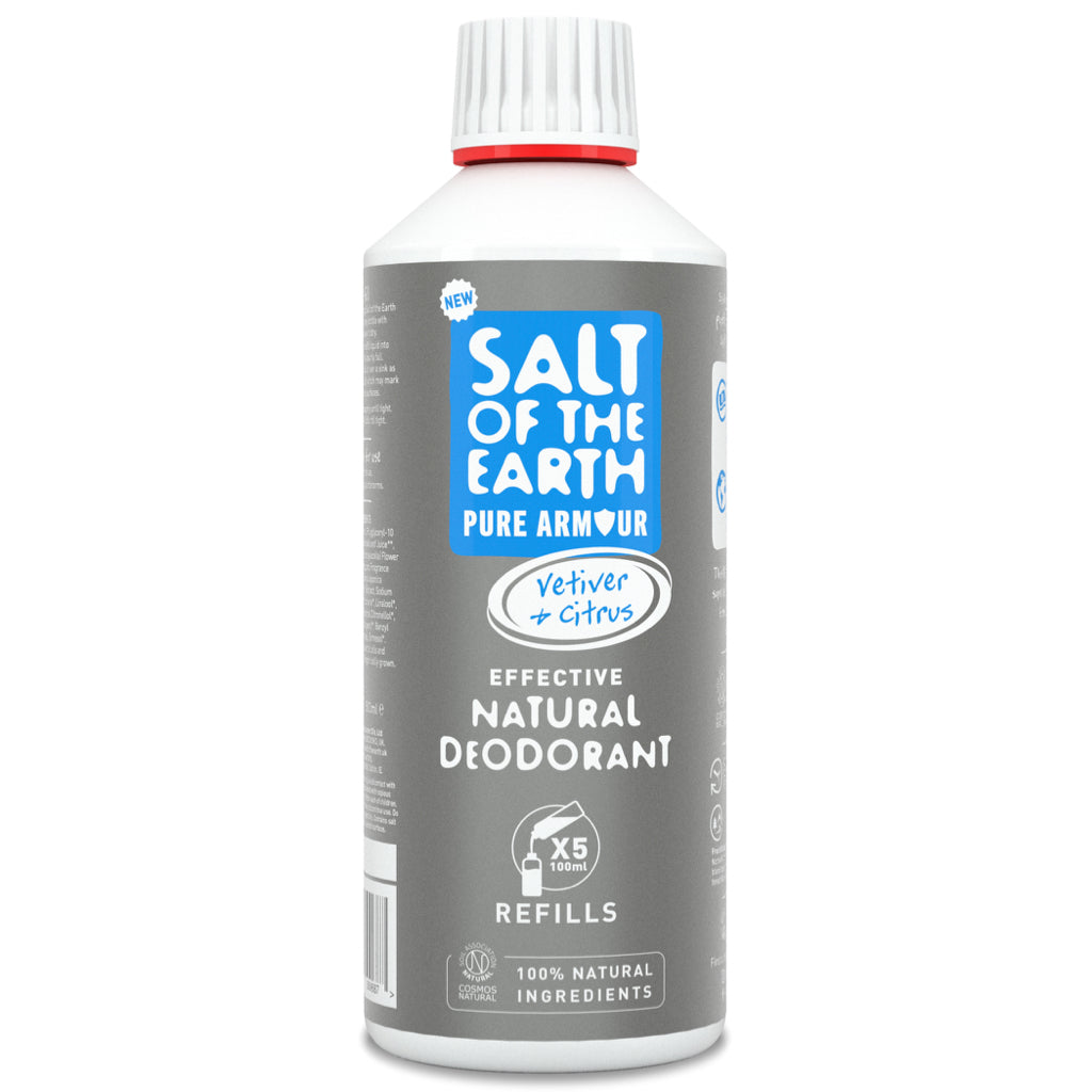 Salt of the Earth Pure Armour Vetiver & Citrus Natural Deodorant Refill 500ml