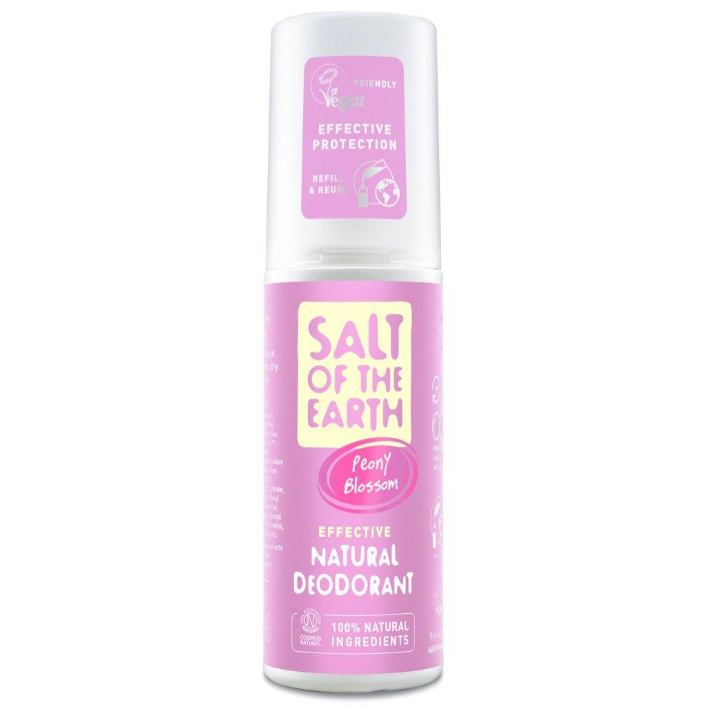 Salt of the Earth Peony Blossom natural deodorant spray UK.